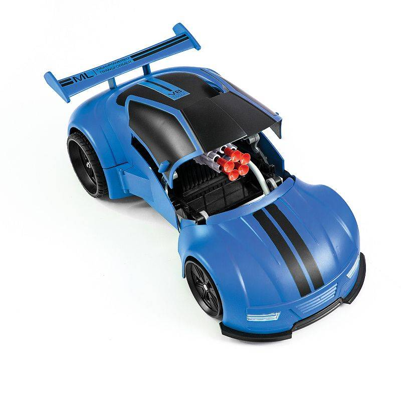 Sharper Image Transforming Missile Launcher Remote Control Car, Blue
