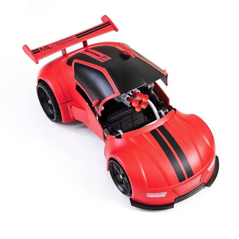 Sharper Image Transforming Missile Launcher Remote Control Car, Red