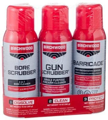 Birchwood Casey 1-2-3 Aerosol Gun Cleaning Products Value Pack