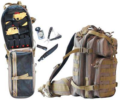 G Outdoors T1611LTB Tactical Loaded Bugout Backpack - Tan
