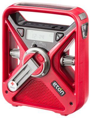 Eton American Red Cross FRX3+ Self-Powered Weather Alert Radio with LED Flashlight and Cell Phone Charger