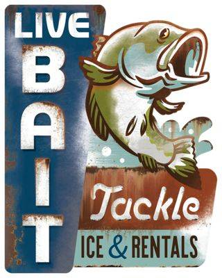 Open Road Brands Live Bait Tin Sign
