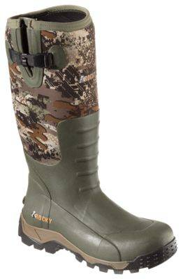 ROCKY Sport Pro Rubber Outdoor Boots for Men - Green/Venator Camo - 10M