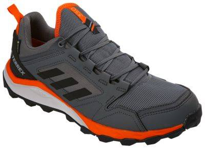 Adidas Outdoor Terrex Agravic TR Trail GORE-TEX Running Shoes for Men - Grey Four/Black/Orange - 6.5M