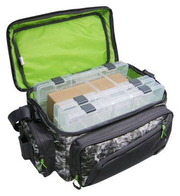 Evolution Outdoor Large Mouth Tackle Bag with Three 3700 Boxes