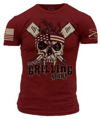 Grunt Style This is My Grilling Shirt Short-Sleeve T-Shirt for Men - Cardinal - L