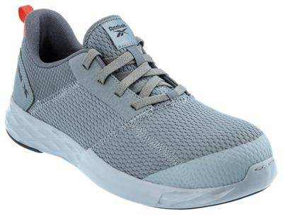 Reebok Astroride Work SD-10 Dual Resistor Composite Toe Athletic Oxford Work Shoes for Men - Grey - 9.5W
