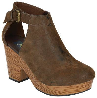 Natural Reflections Ancora Nubuck Wedge Shoes for Ladies - Brown Nubuck - 10M