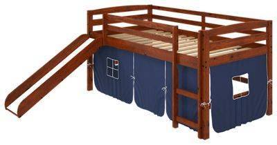 Chelsea Home Furniture Aria Tent Loft Bed with Slide and Ladder - Blue