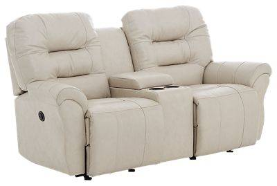 Best Home Furnishings Unity Furniture Collection Power Space Saver Love Seat with Console - Sand