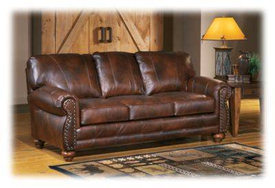 Best Home Furnishings Osmond Furniture Collection Stationary Sofa - Chestnut
