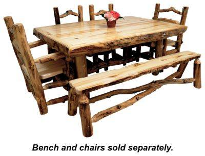 Mountain Woods Furniture Grizzly Log Dining Table