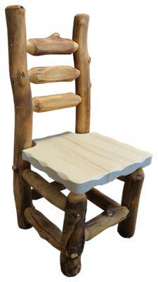 Mountain Woods Furniture Grizzly Log Dining Chair