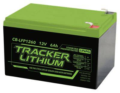Tracker 12V Lithium Ion Phosphate Accessory Battery - 6AH
