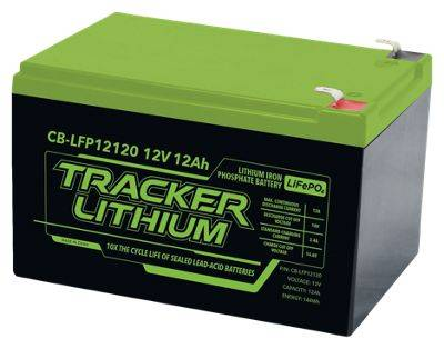 Tracker 12V Lithium Ion Phosphate Accessory Battery - 12AH