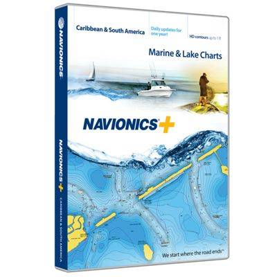 Navionics+ Electronic Marine Charts and Freshest Data Updates for Chartplotters - Caribbean & South America