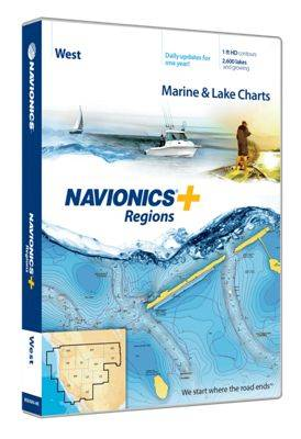Navionics+ Regions Electronic Marine Charts for Chartplotter - West