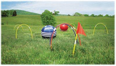 HearthSong Kick Croquet Outdoor Game for Kids