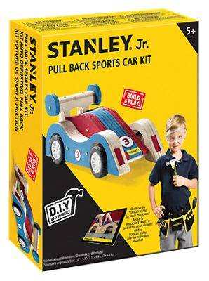 Stanley Red Toolbox Stanley Jr. Pull-Back Sports Car Kit