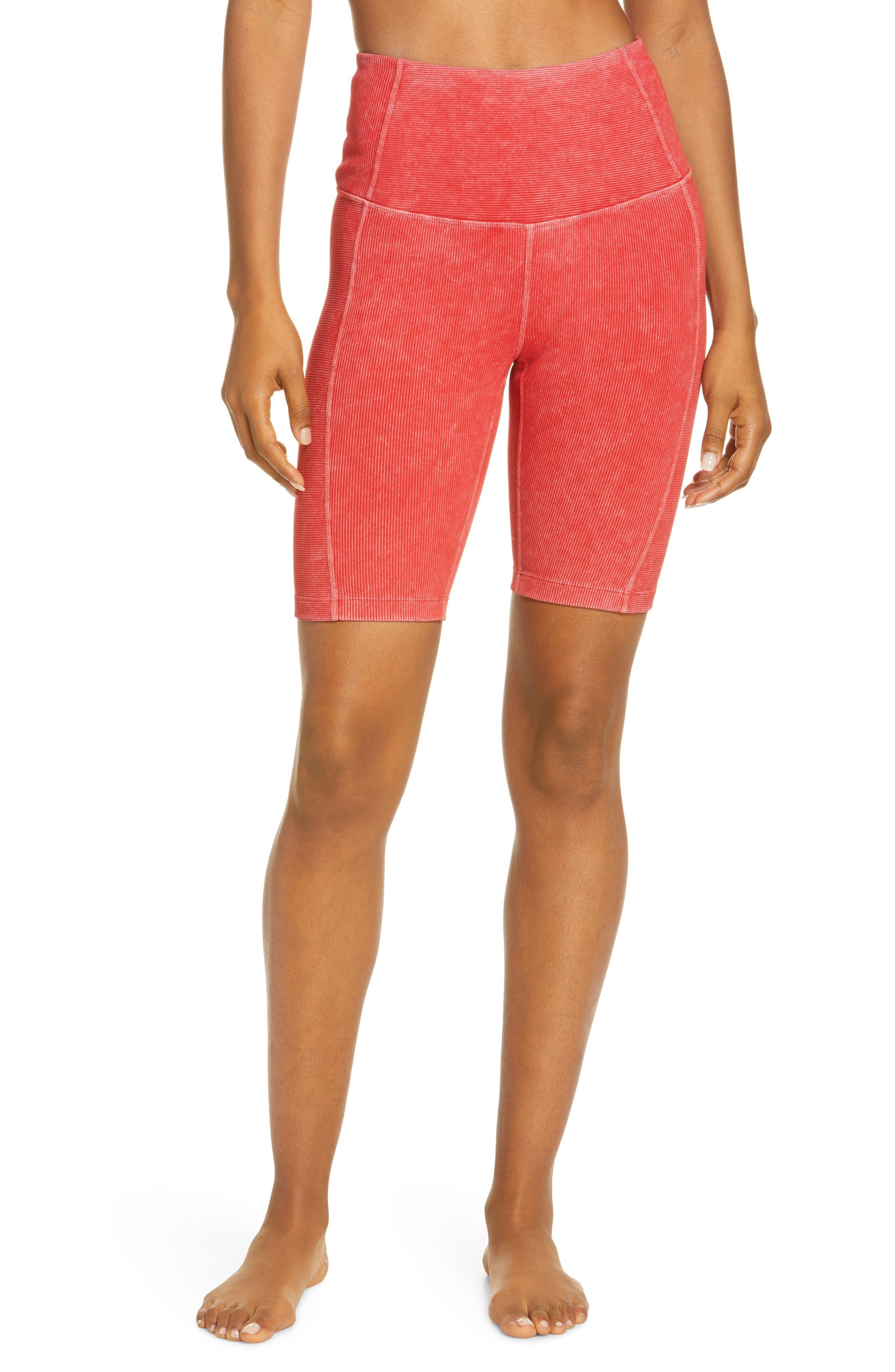 Zella Women's Zella Snow Wash Rib Bike Shorts