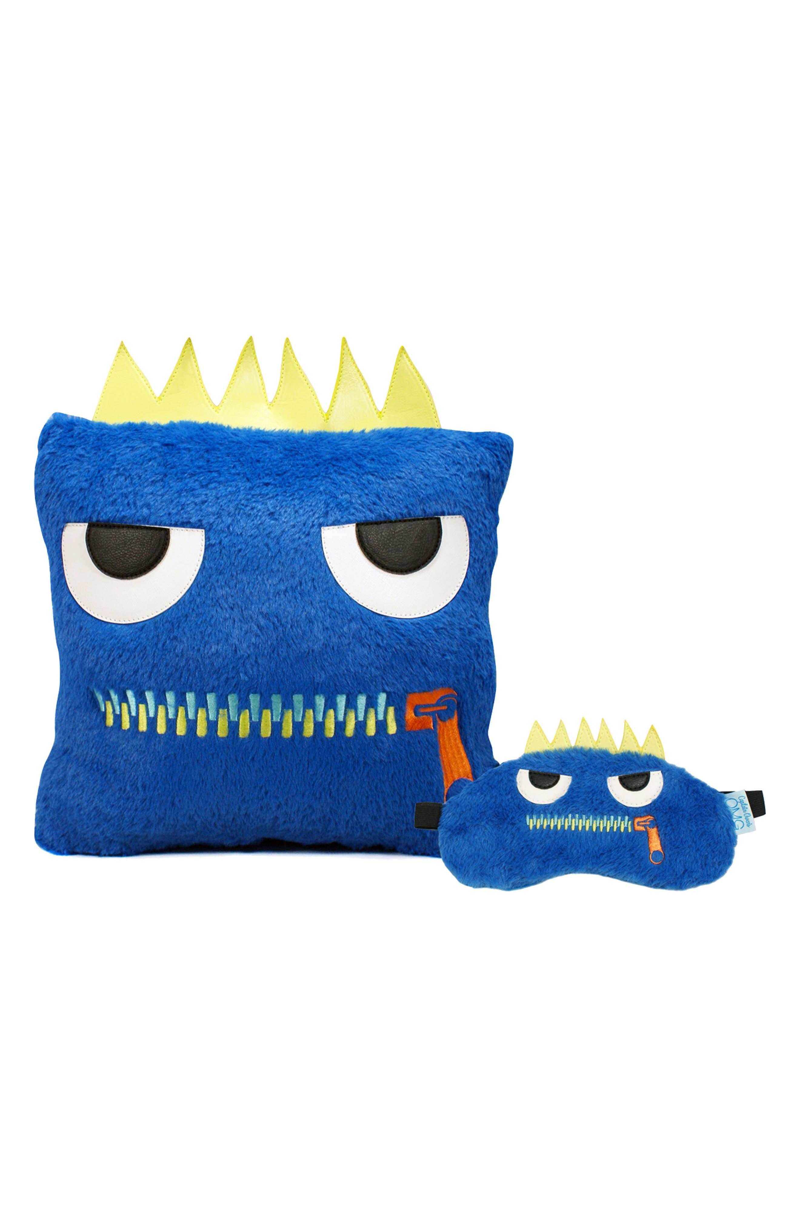 OMG Accessories Omg Zippy Pillow & Sleep Mask Set, Size One Size - Blue