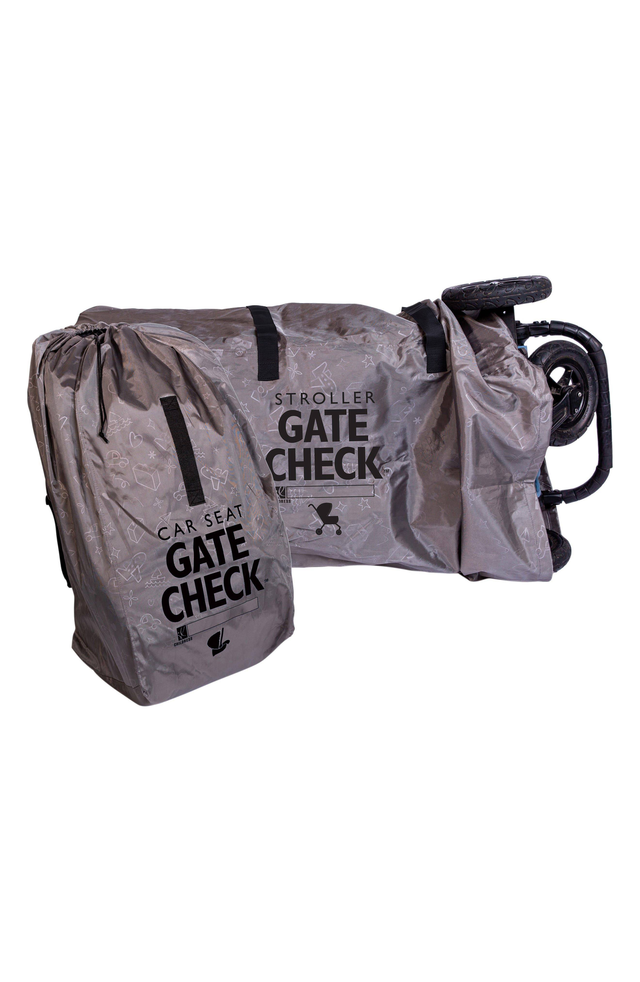 J.L. Childress Infant J.l. Childress Gate Check Car Seat & Double Stroller Bags Set, Size One Size - Grey