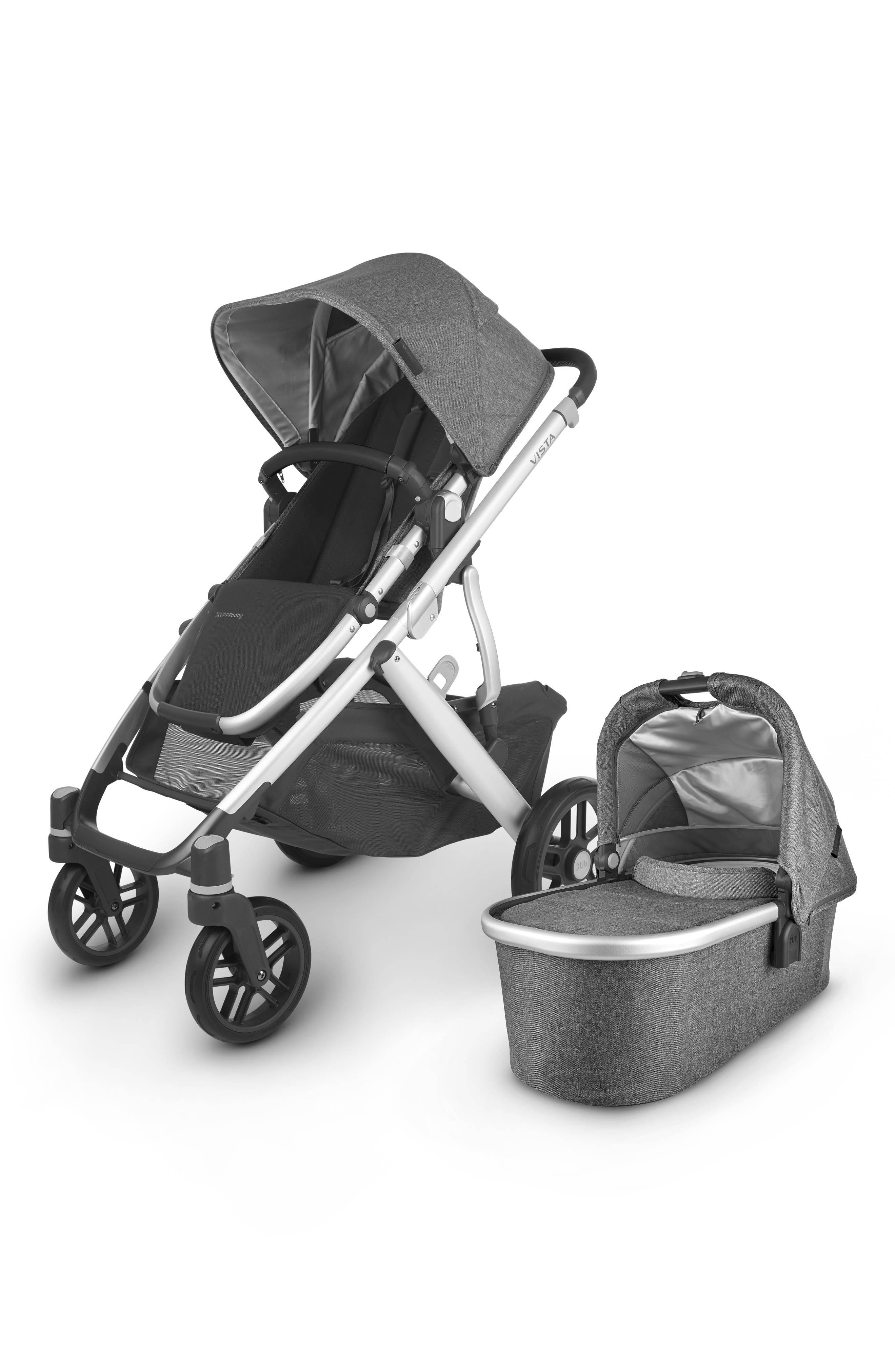 UPPAbaby Infant Uppababy Vista V2 Stroller With Bassinet, Size One Size - Grey