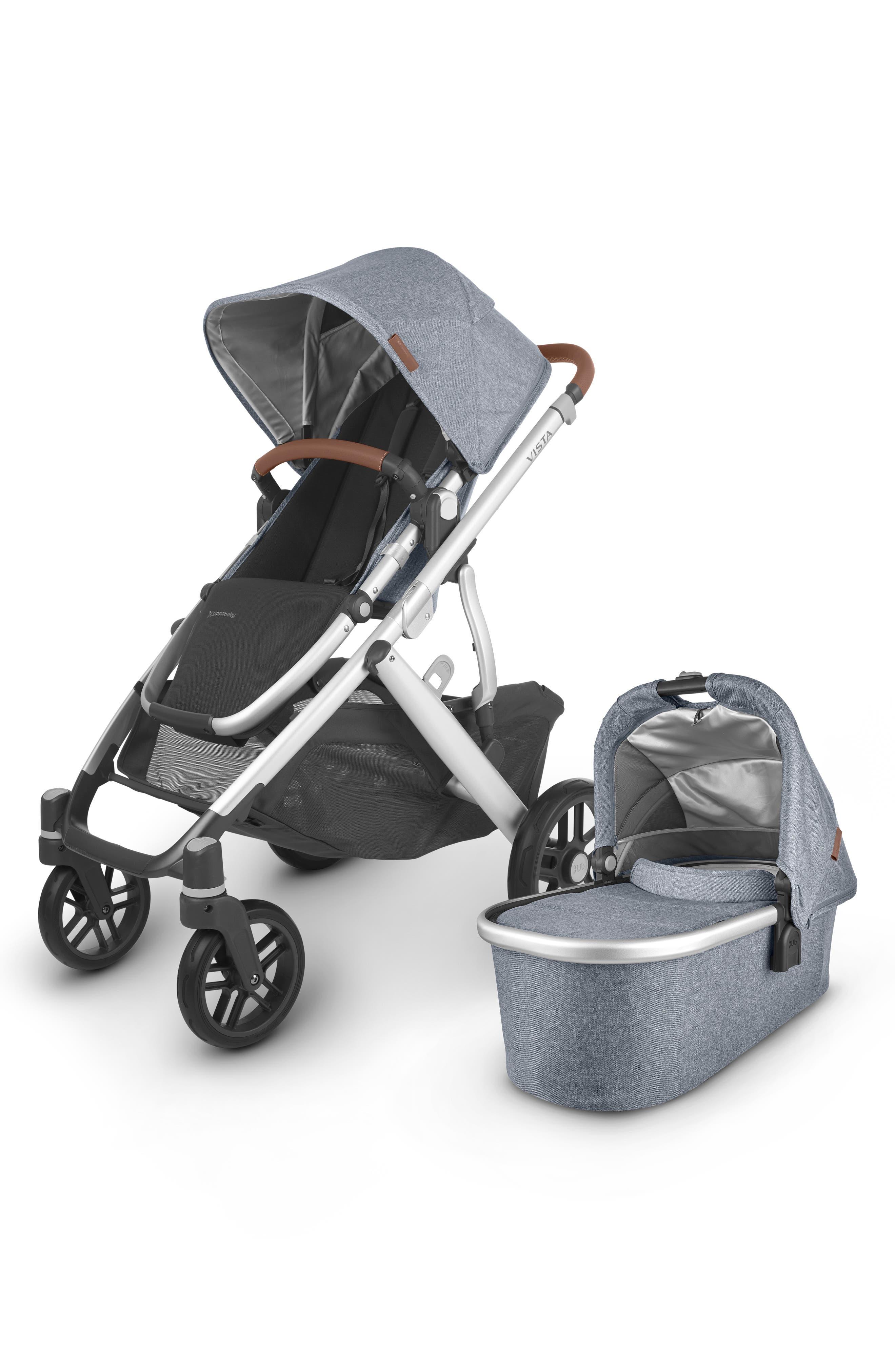 UPPAbaby Infant Uppababy Vista V2 Stroller With Bassinet, Size One Size - Blue