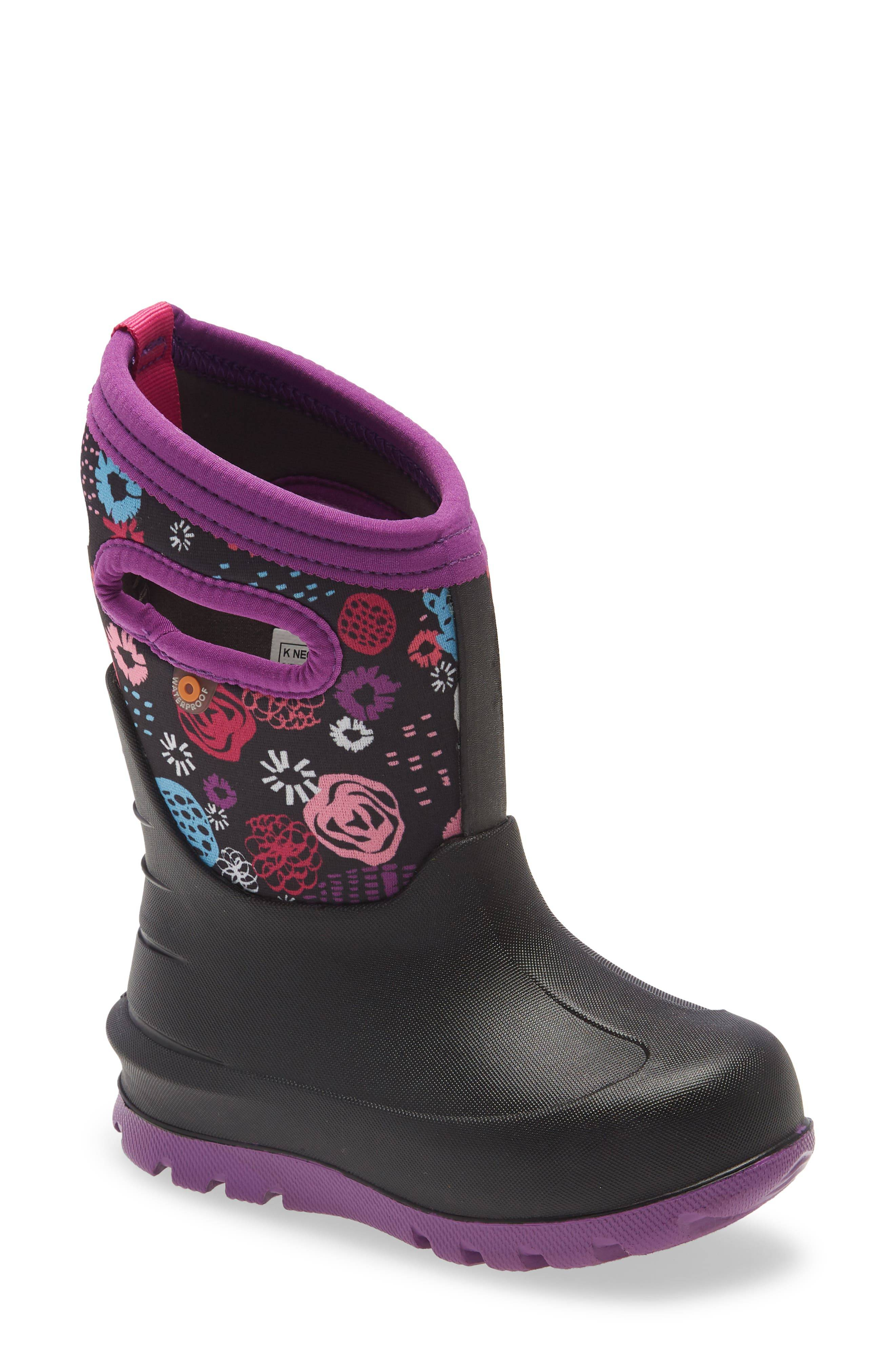 Bogs Girl's Bogs Neo Classic Garden Party Insulated Waterproof Boot, Size 6 M - Black