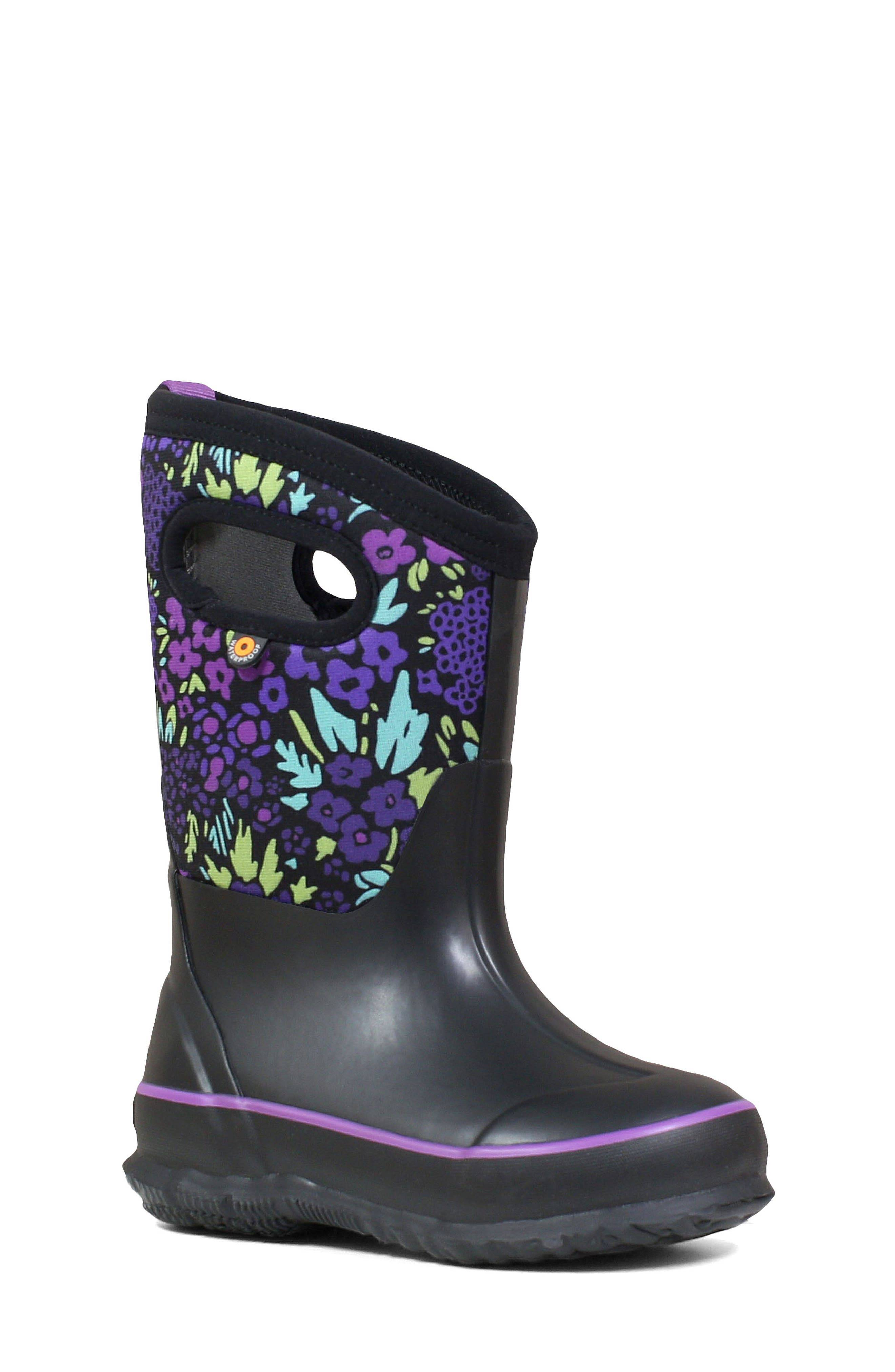 Bogs Girl's Bogs Neo-Classic Garden Insulated Waterproof Boot, Size 2 M - Black
