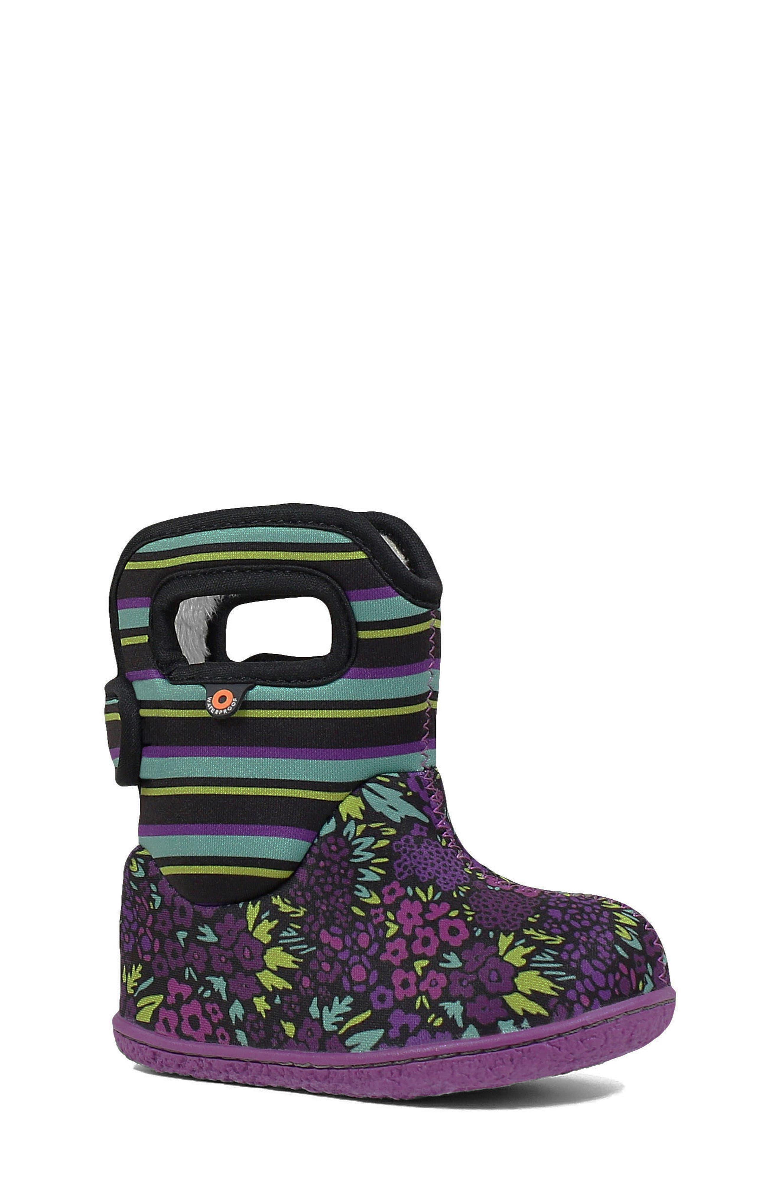 Bogs Toddler Girl's Bogs Baby Bogs Garden Insulated Waterproof Boot, Size 7 M - Black