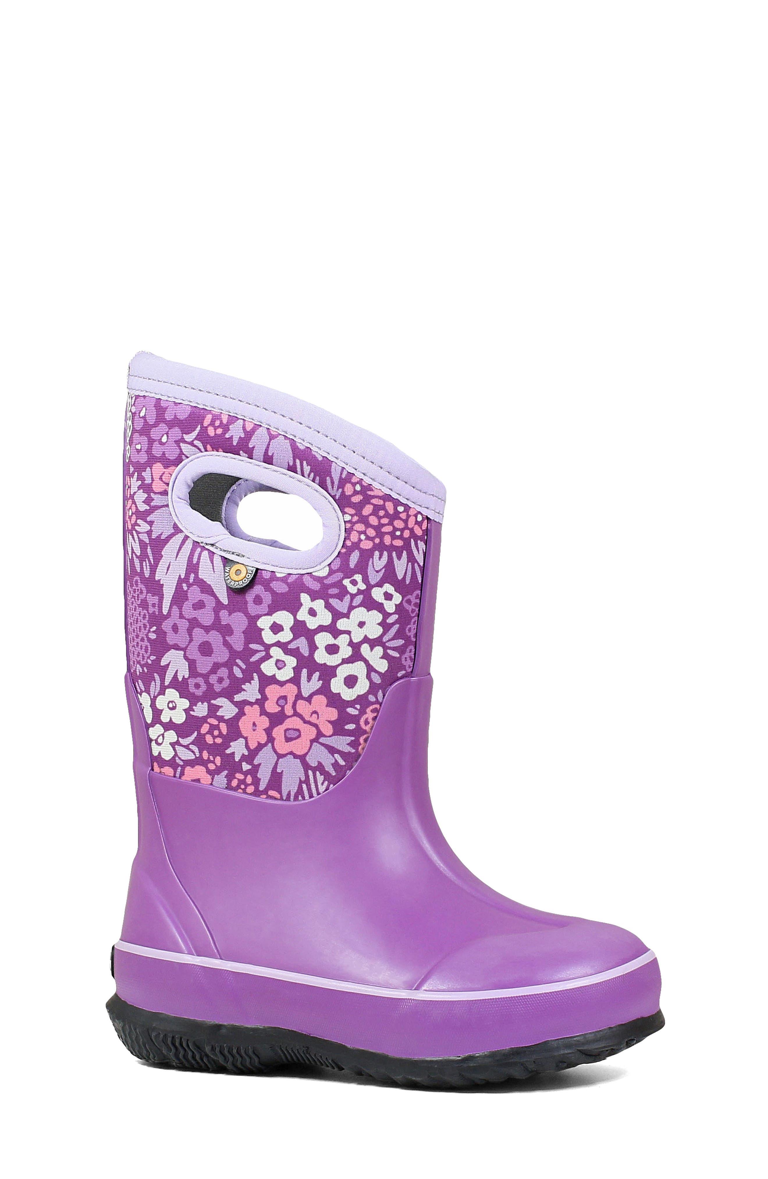 Bogs Girl's Bogs Neo-Classic Garden Insulated Waterproof Boot, Size 3 M - Purple