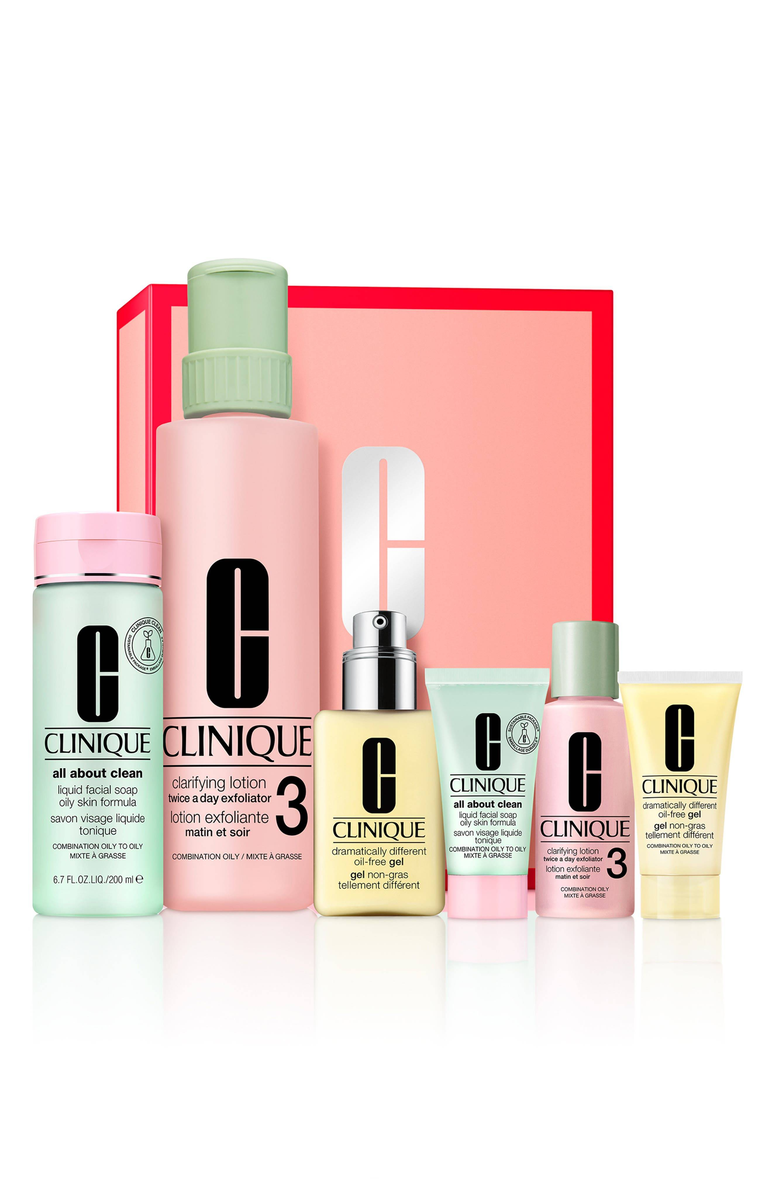 Clinique Great Skin Everywhere Home & Away Set For Combination Oily To Oily Skin