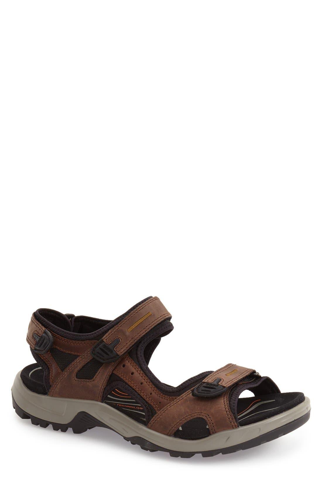 ECCO Men's Ecco 'Yucatan' Sandal, Size 12-12.5US - Brown