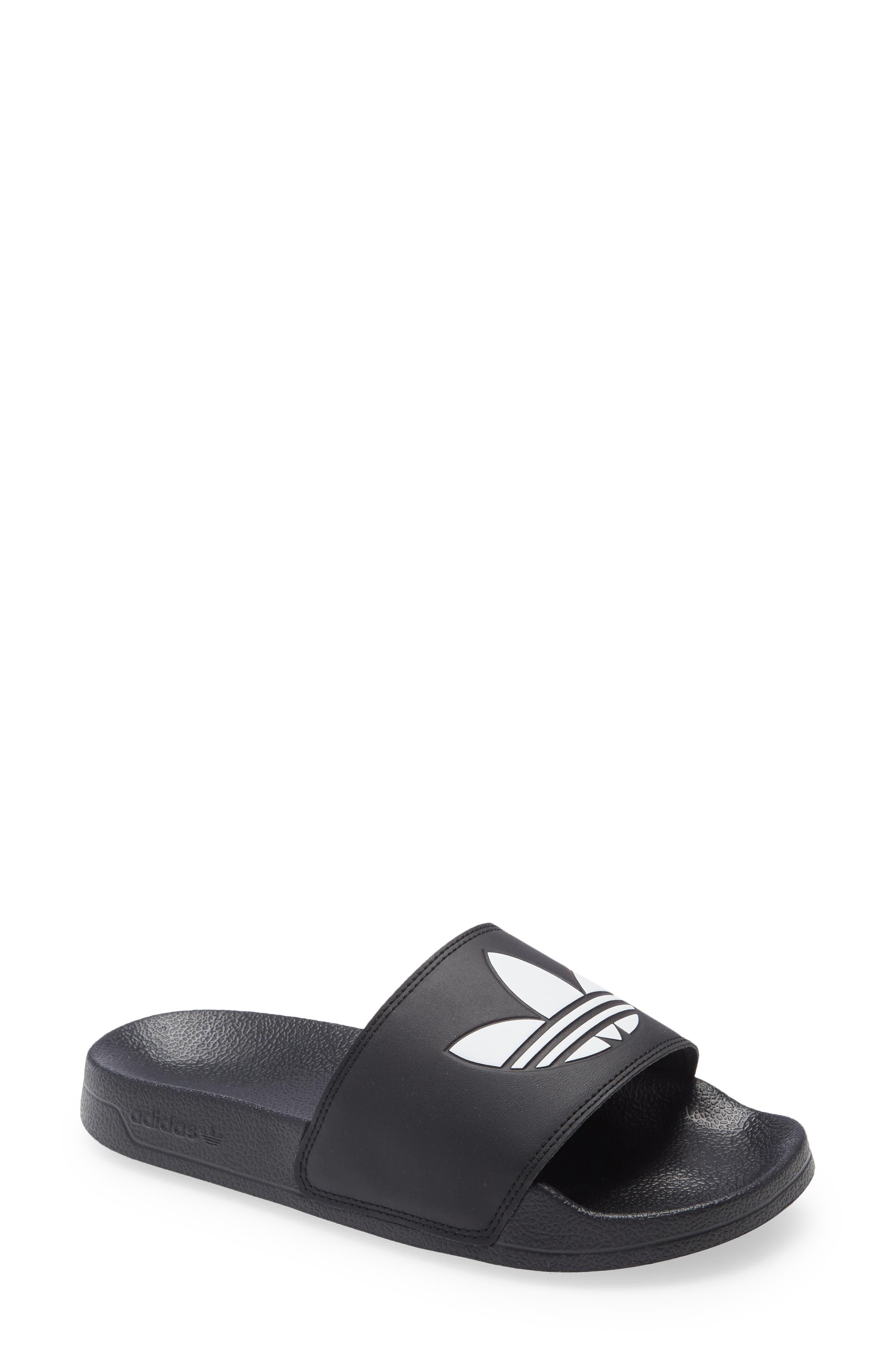 adidas Kid's Adidas Adilette Lite Sport Slide, Size 4 M - Black
