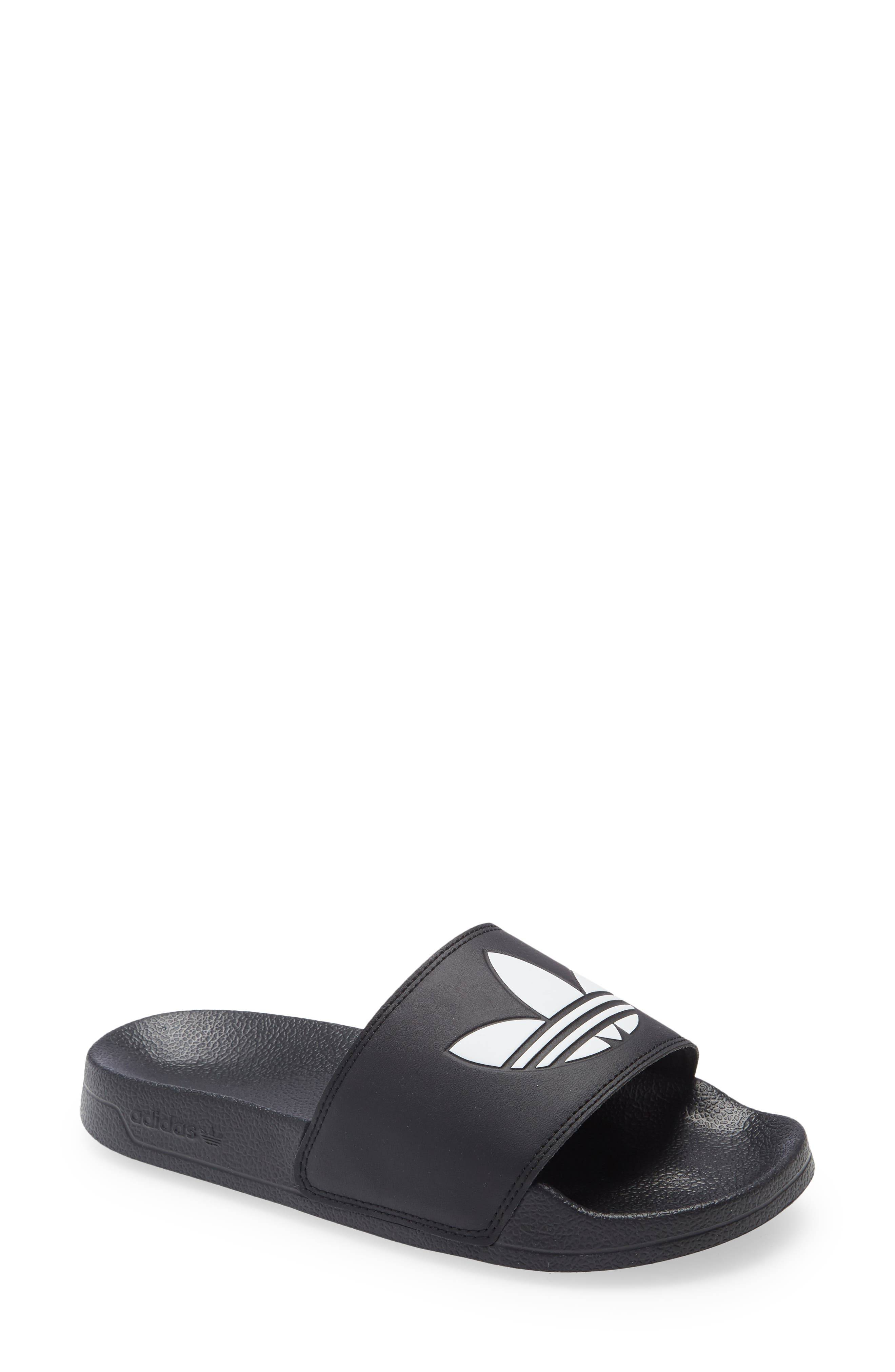 adidas Toddler Adidas Adilette Lite Sport Slide, Size 3 M - Black