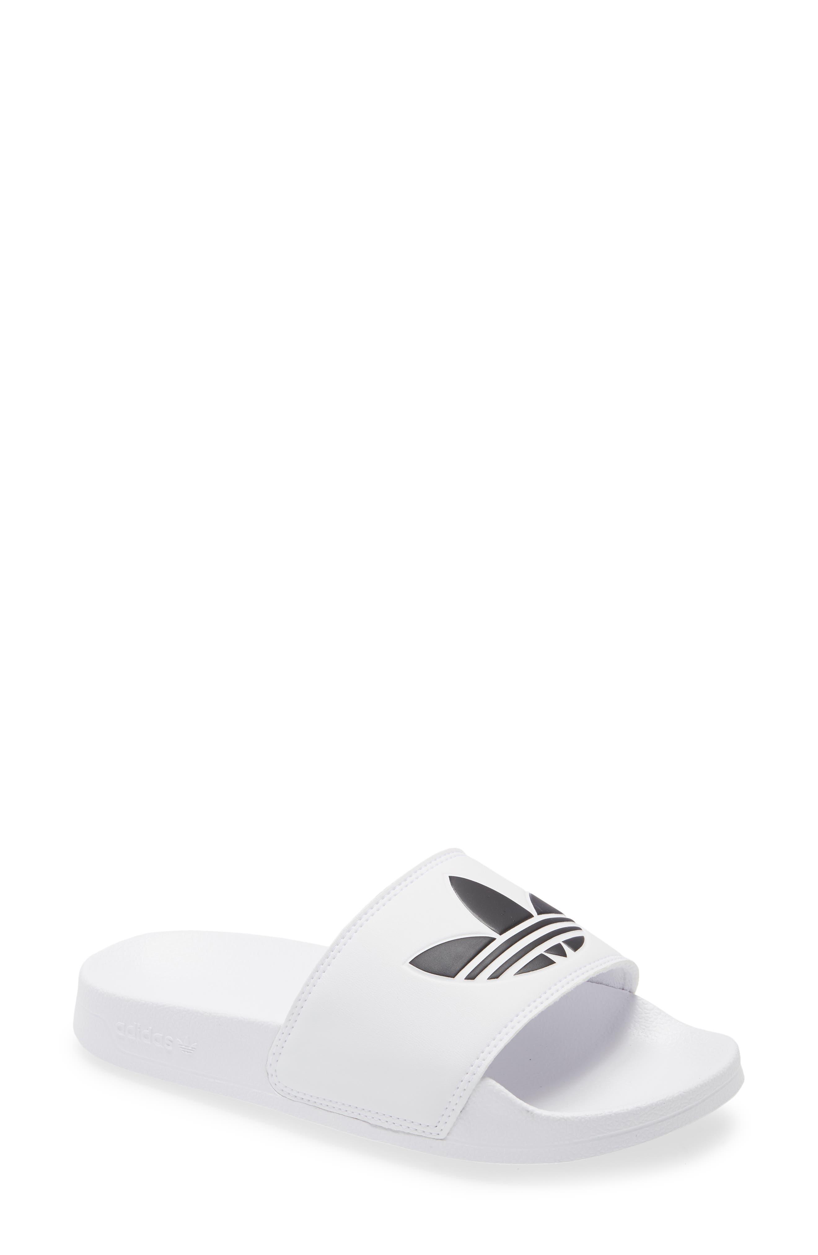 adidas Kid's Adidas Adilette Lite Sport Slide, Size 4 M - White