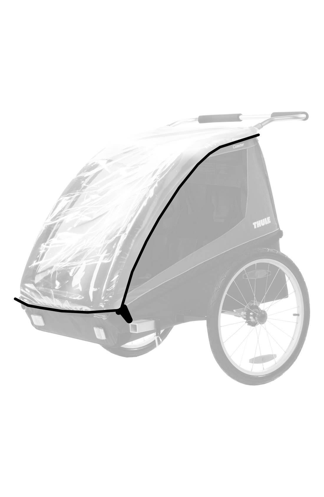 Thule Infant Thule Protective Rain Cover For Coaster/cadence Bike Trailer, Size One Size - Black