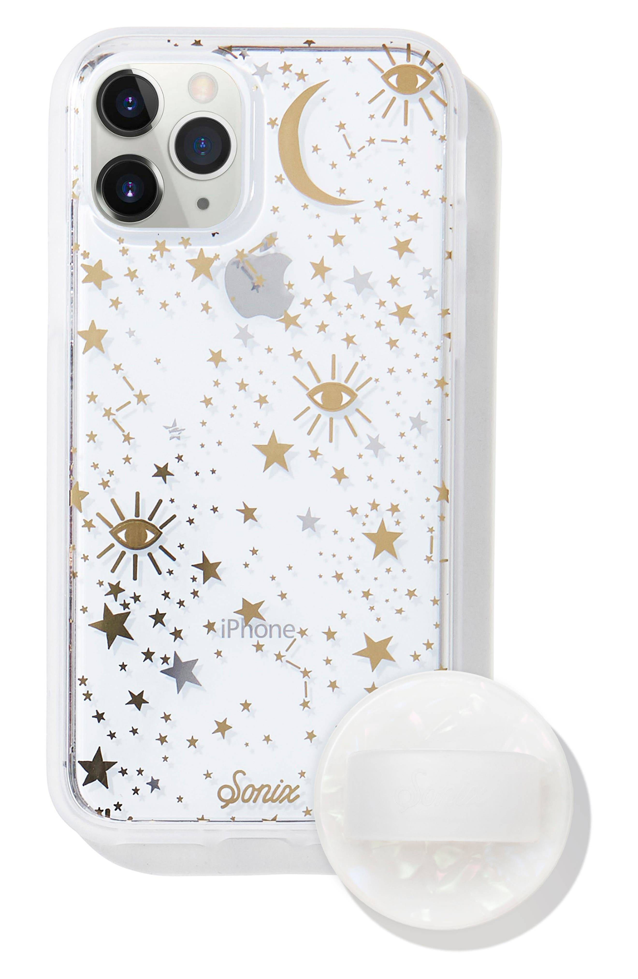 Sonix Cosmic Iphone 11 Pro Case & Slide Silicone Phone Ring - White