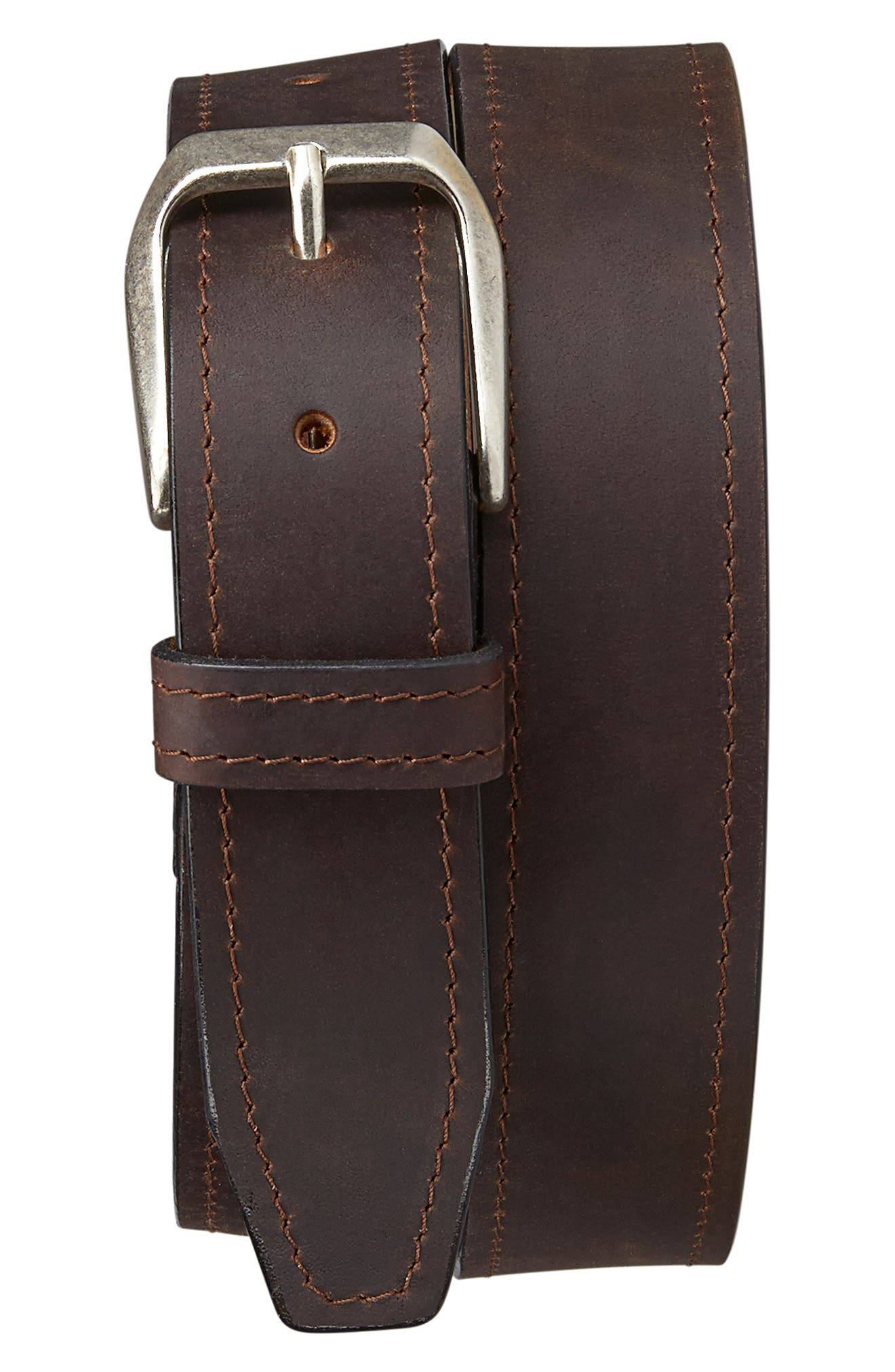 Trask Men's Trask Darby Leather Belt, Size 42 - Brown