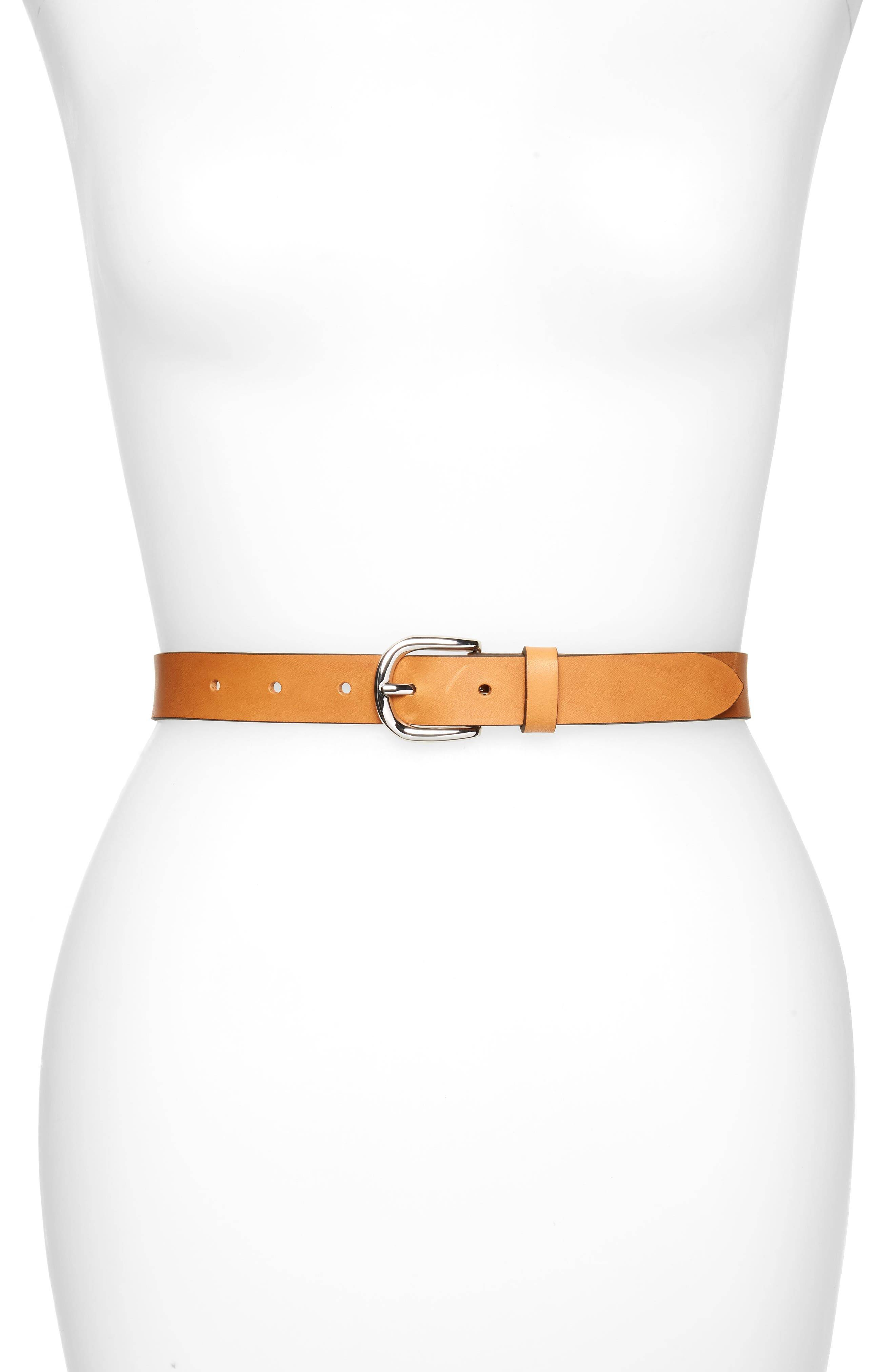 Isabel Marant Women's Isabel Marant Zap Leather Belt, Size 75 - Natural