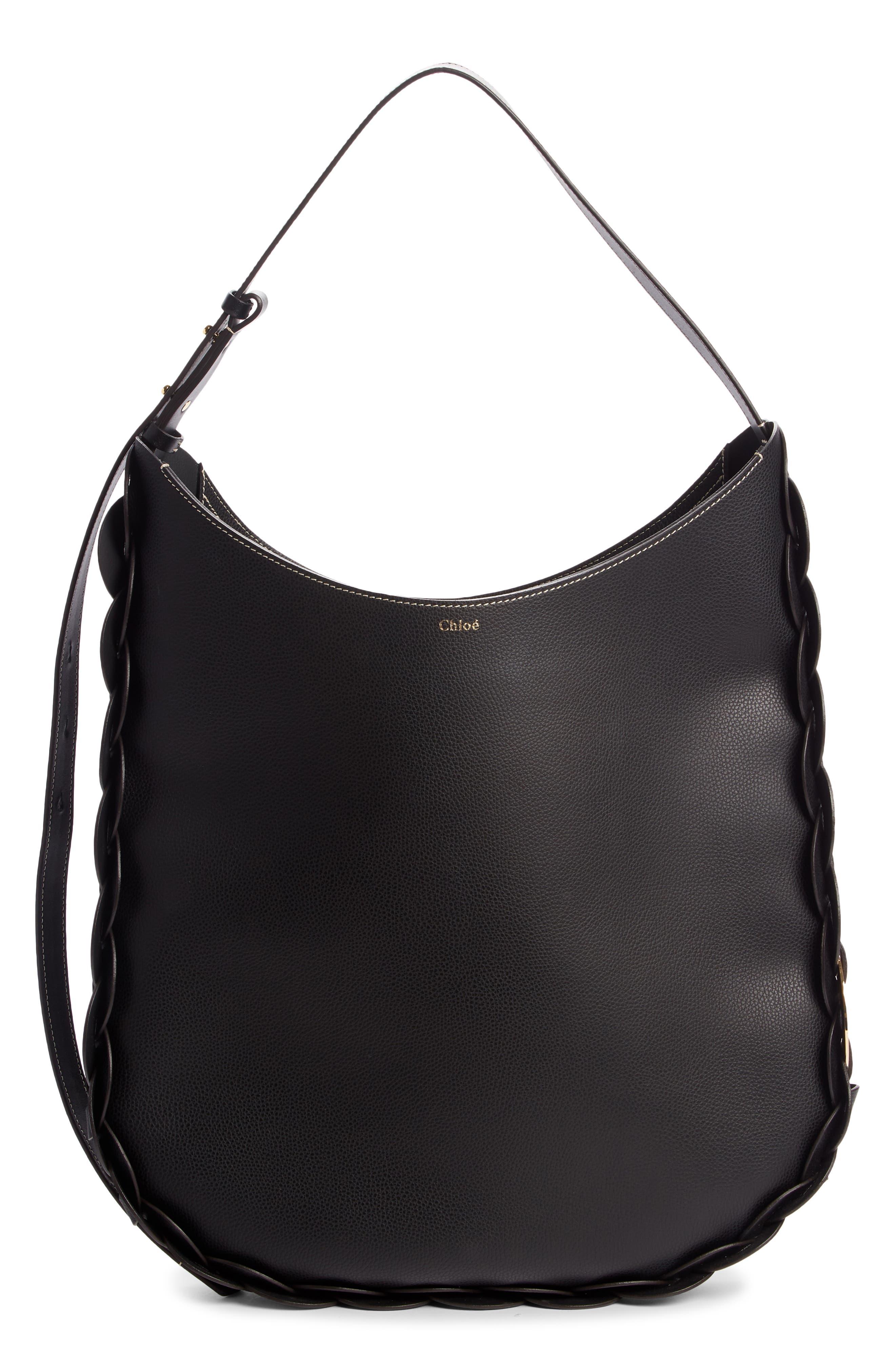 Chloe Large Darryl Leather Hobo - Black