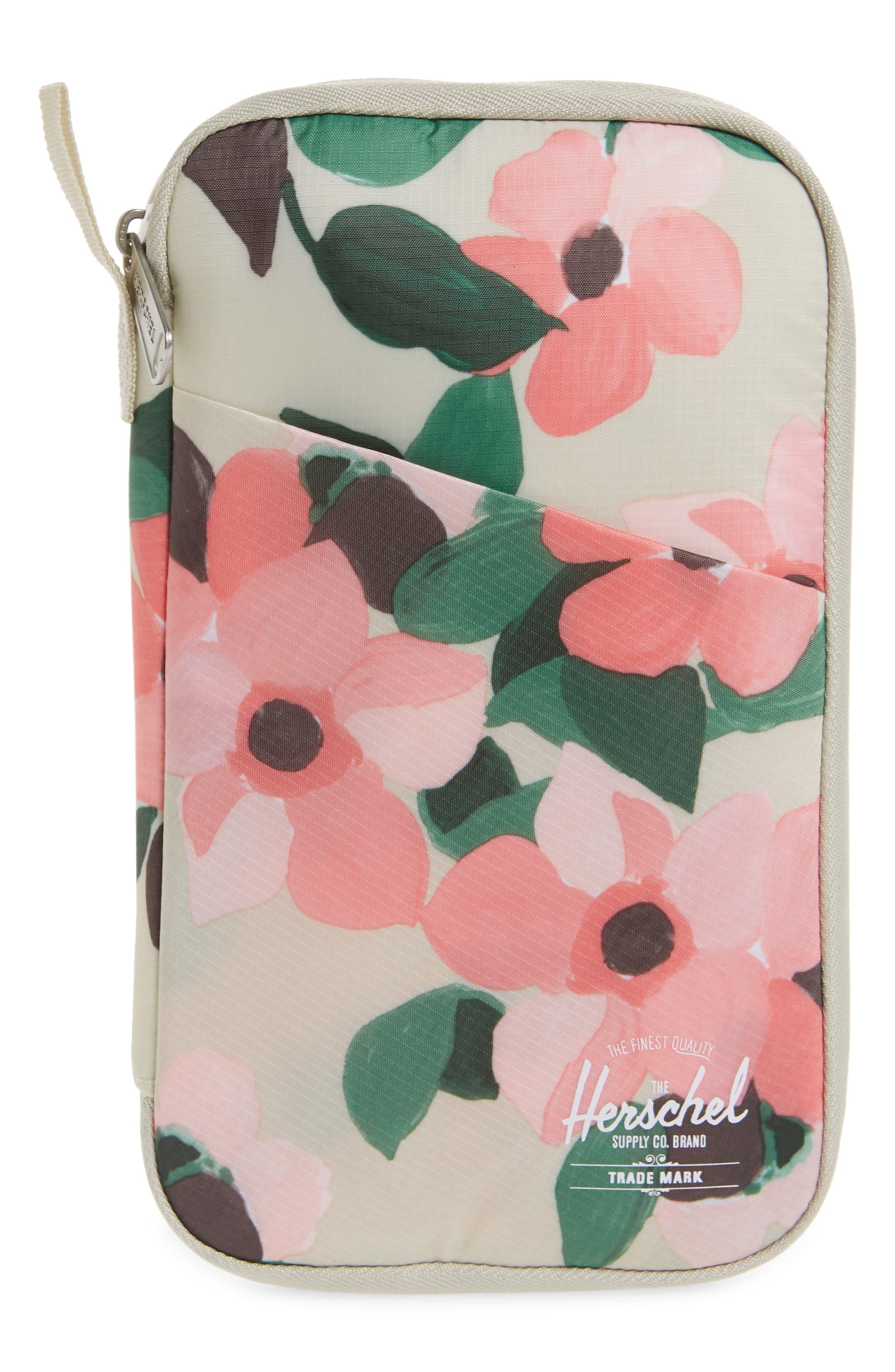 Herschel Supply Co. Women's Herschel Supply Co. Floral Print Travel Wallet - Pink