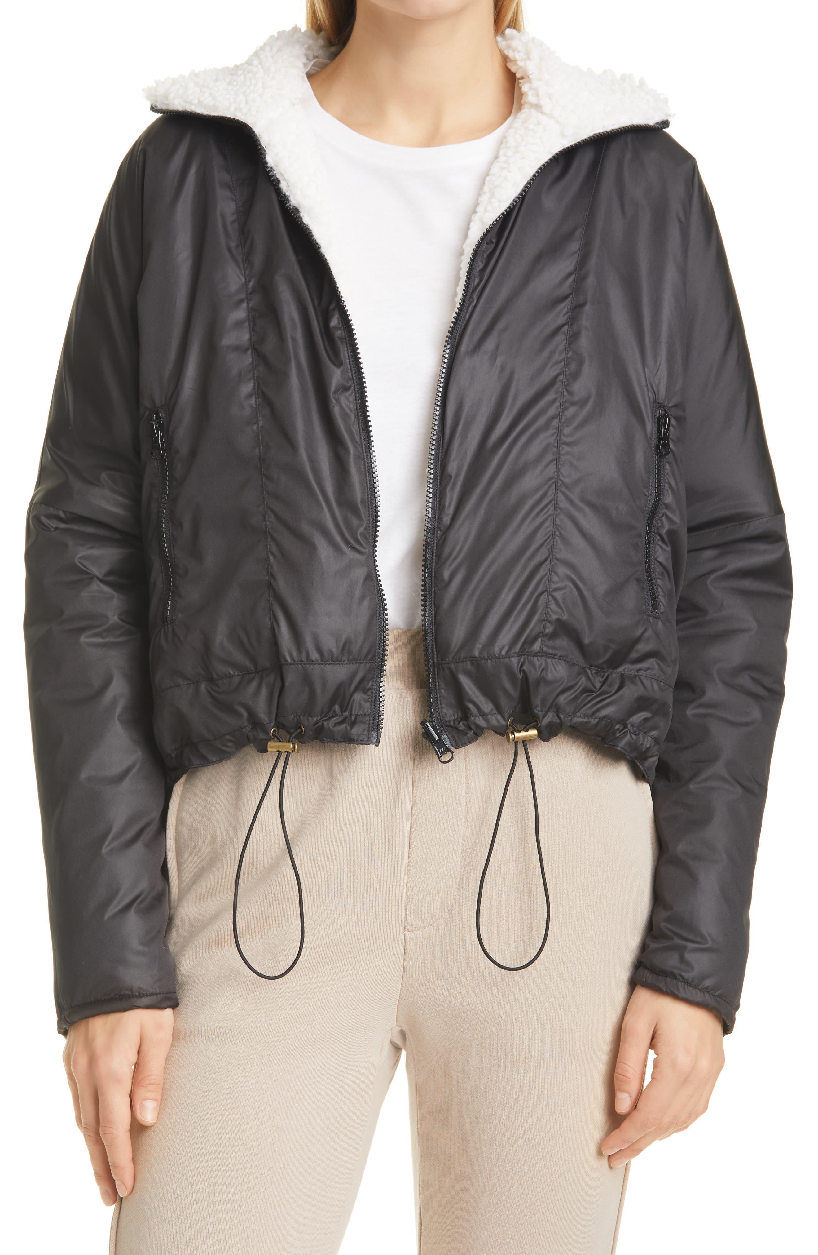 NSF Clothing Women's Nsf Clothing Dani Women's Reversible Jacket, Size Large - Black