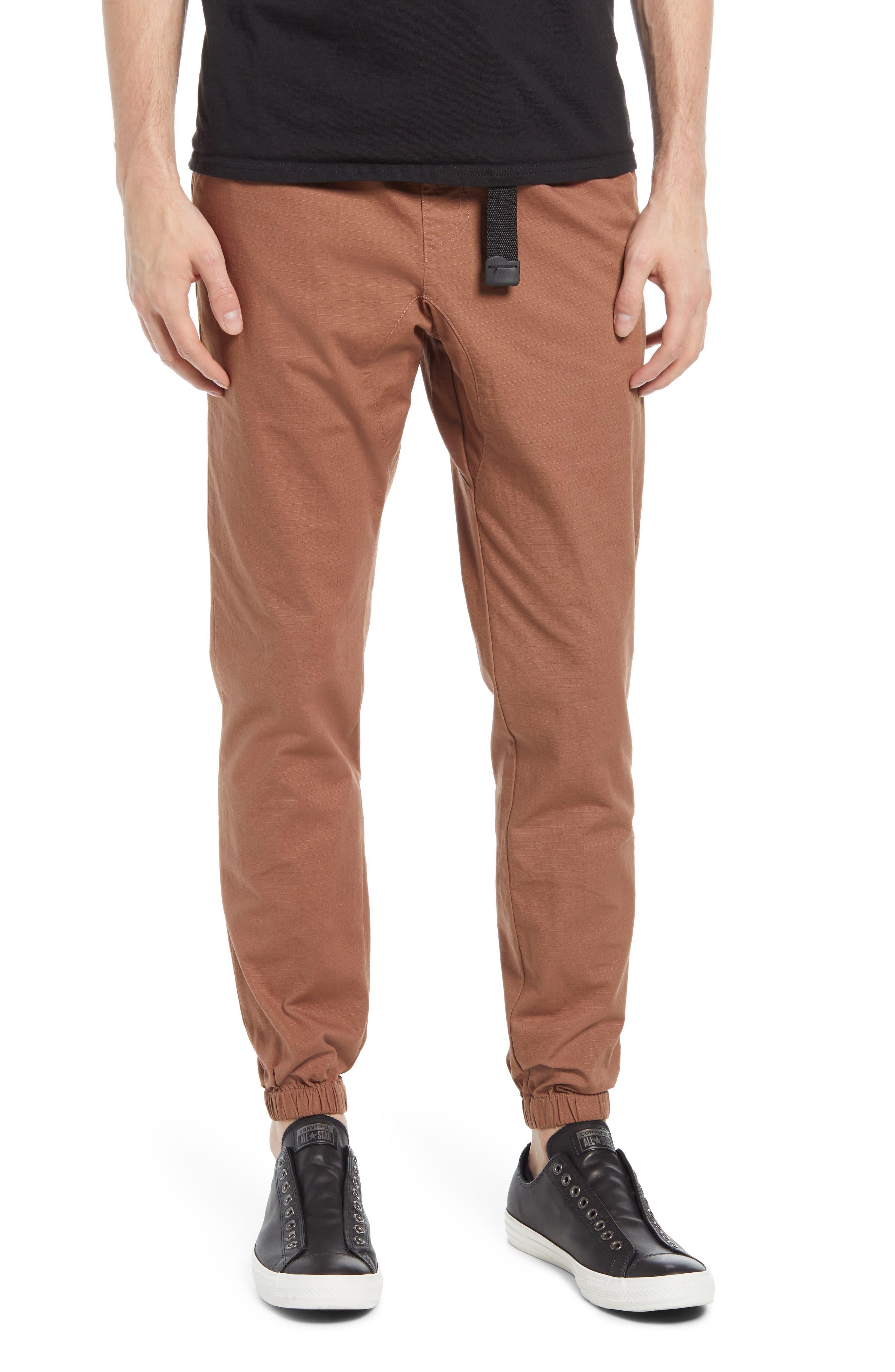 Lira Clothing Men's Lira Clothing Northrop Ripstop Joggers, Size Large - Beige