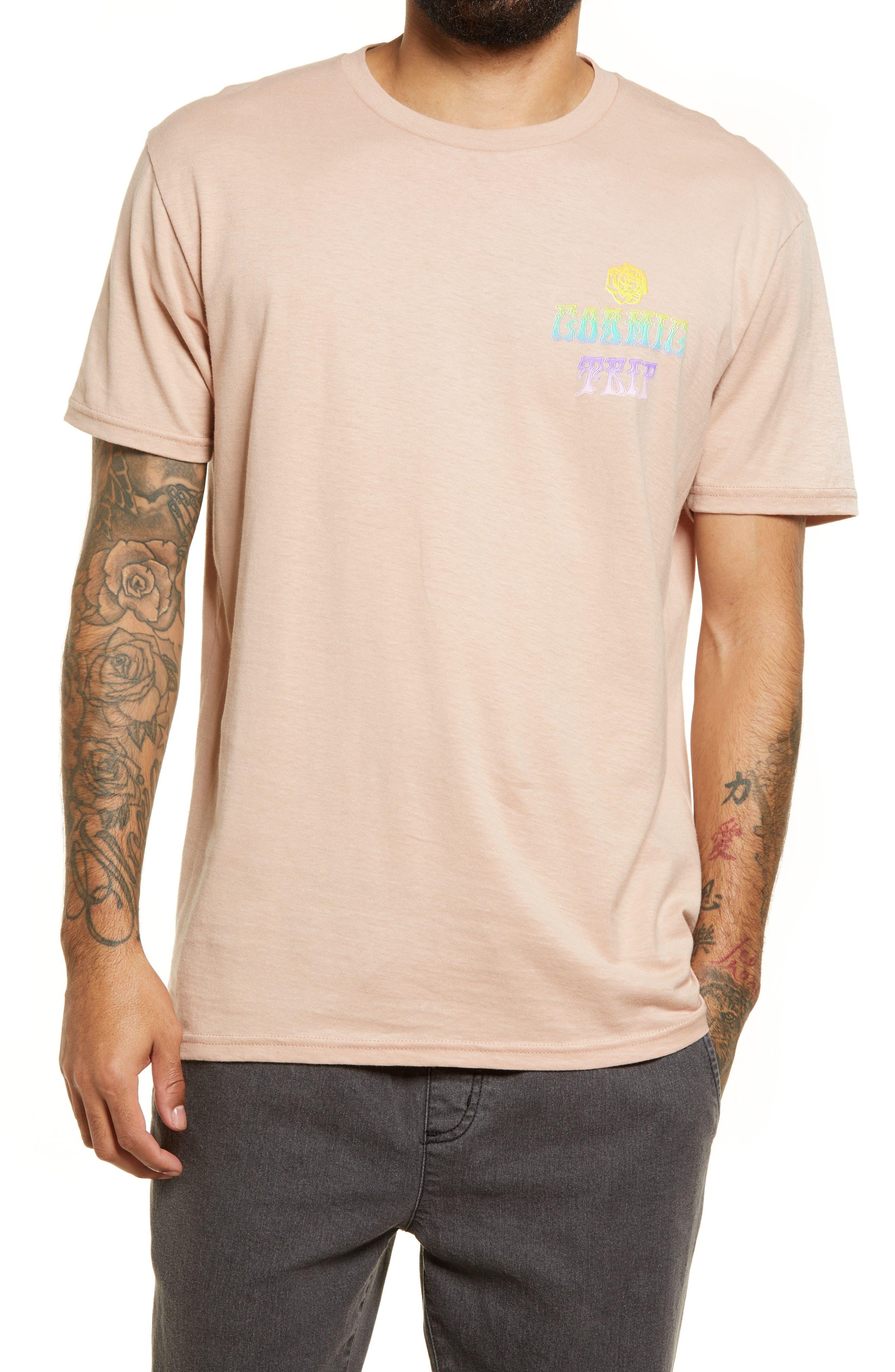 Lira Clothing Men's Lira Clothing Parnell Graphic Tee, Size Large - Pink