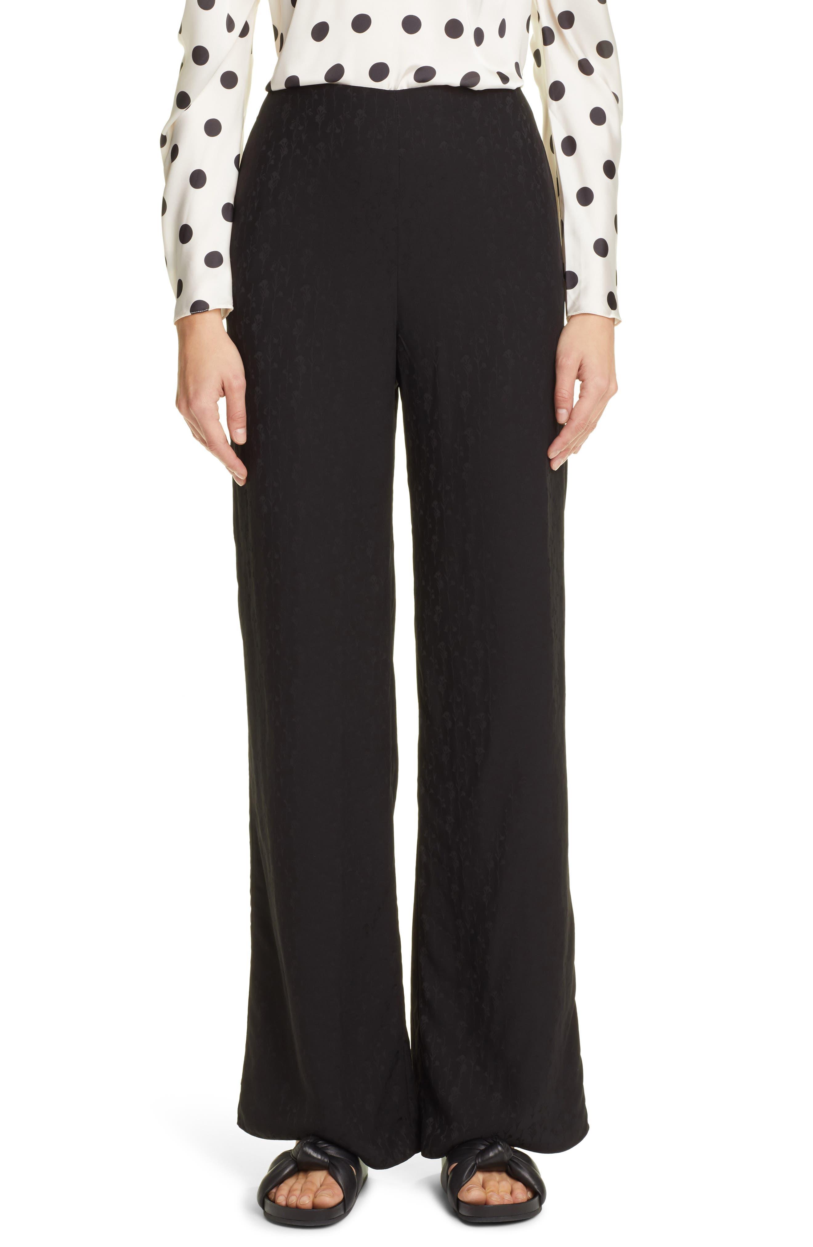 Johanna Ortiz Women's Johanna Ortiz Garden Oasis Floral Jacquard Flare Leg Pants, Size 2 - Black