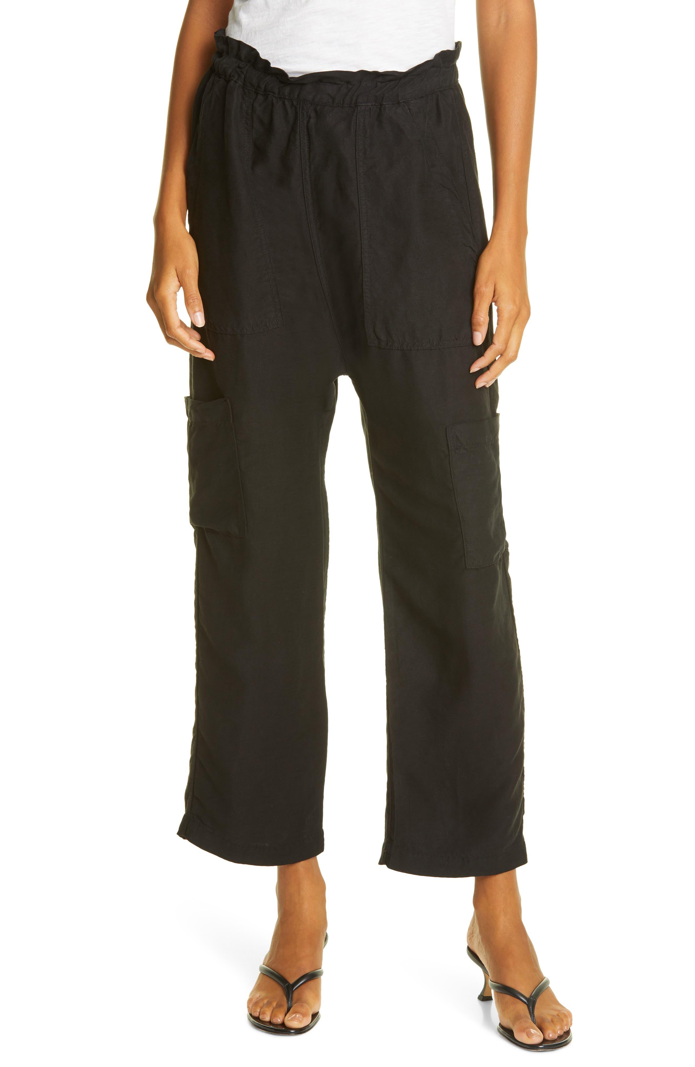 NSF Clothing Women's Nsf Clothing Shailey Paperbag Waist Pants, Size Petite - Black