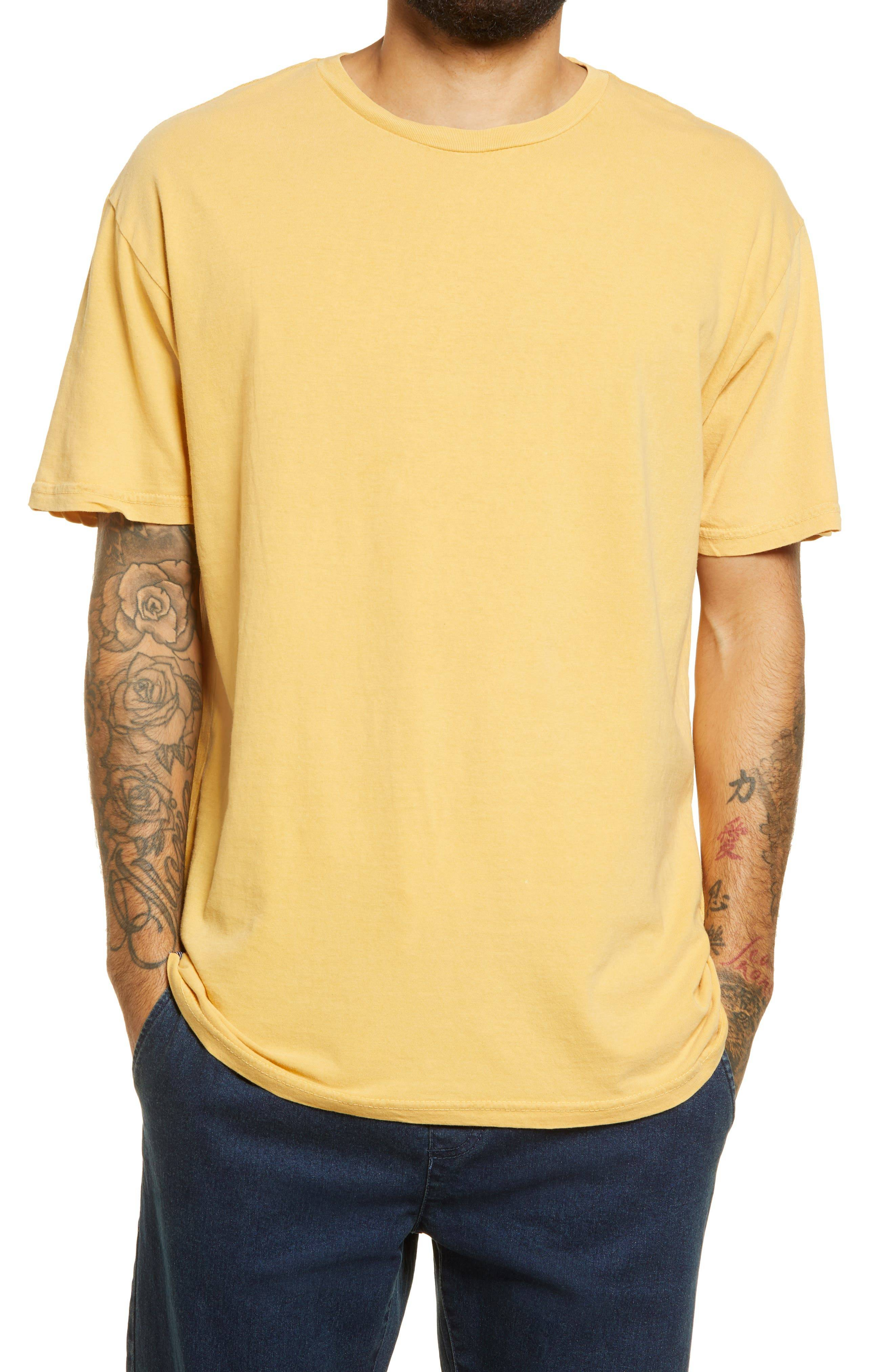 Lira Clothing Vintage Wash Unisex T-Shirt, Size Medium - Yellow