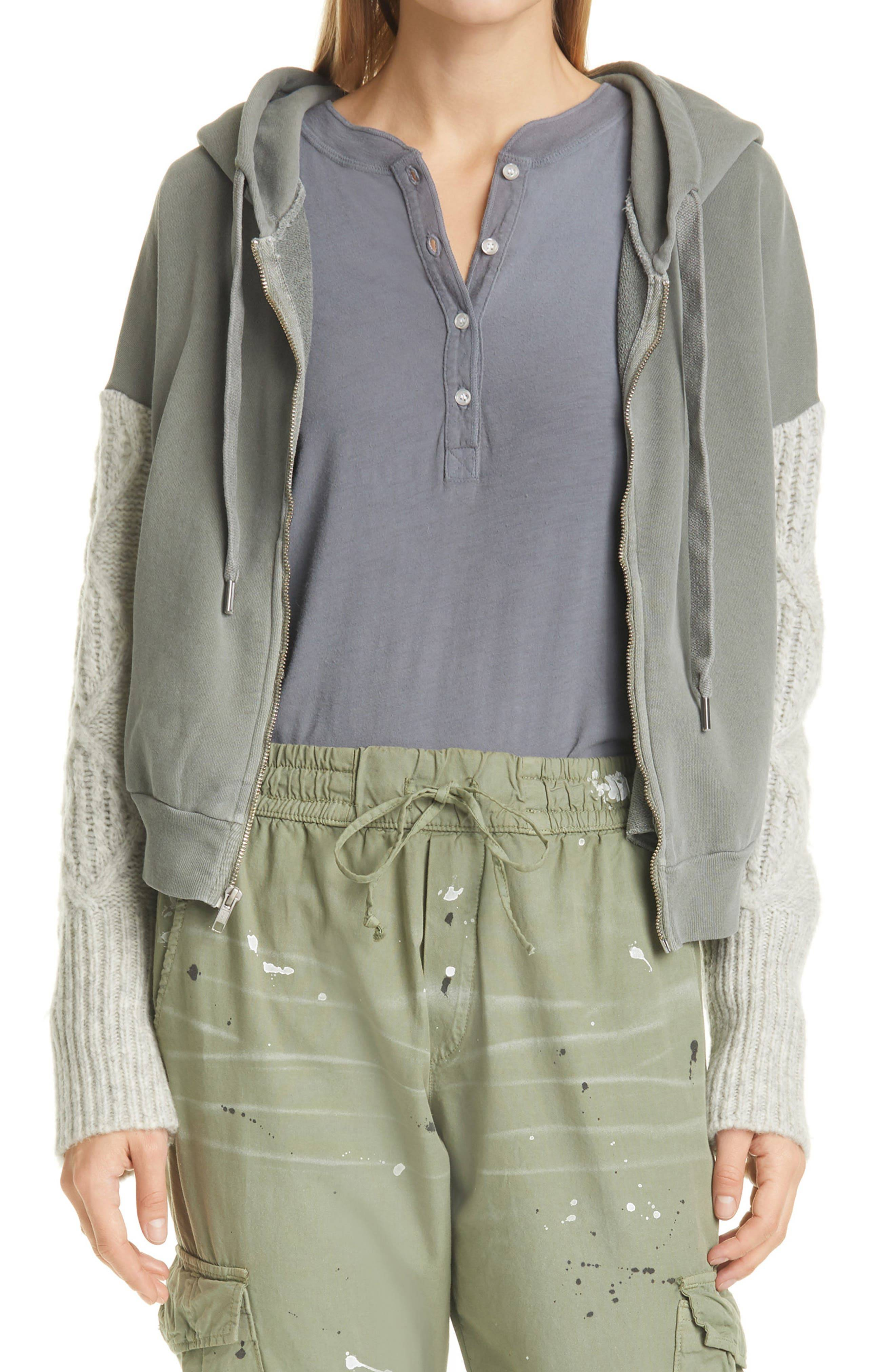 NSF Clothing Women's Nsf Clothing Farrel Women's Zip Hoodie, Size Medium - Grey